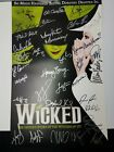 Wicked Poster Signed by Original Cast & Composer Untold Story of Witches of Oz