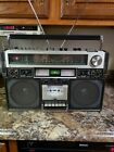 VINTAGE 1980'S JVC RC-838JWii BIPHONIC BOOMBOX STEREO SYSTEM WORKING