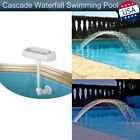 Garden Color Cascade Waterfall Swimming Pool Fountain 12 LED Lights 4 Water Jets