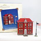 2003 Hallmark Schoolhouse and Flagpole Ornament Town and Country Pressed Tin #5