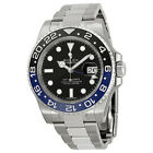 Pre-owned Rolex GMT Master II Black Dial Stainless Steel PRE-RLX116710BLNR