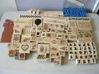 HUGE RUBBER STAMP LOT OF 125 MOSTLY NEW UNUSED RARE  RETIRED EARLY 90S