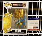 James Gunn Signed Potted Dancing Groot Gold Funko Pop! With PSA COA