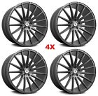 22 GUNMETAL ANTHRACITE WHEELS RIMS GRAPHITE 5X1143 5X45 ASANTI 22X9