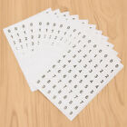 12sheets Sequential Number 0 9 Label Sticker Small Round Tag Scrapbooking DIY US