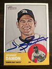 2012 Topps Heritage Johnny Damon #418 Auto Signed Autograph Rays