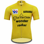 Brand New Retro Team La Vie Claire Yellow Cycling Jersey