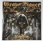 [RARE] AUTOGRAPHED - Grave Digger - '25 To Live' [2CD] + COA