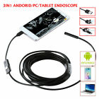7mm Android Endoscope Snake Borescope Micro Usb Type C Inspection Camera Cable