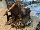 Vintage Italian Nativity Set Christmas Manger Creche  8 Figures Italy 1960s