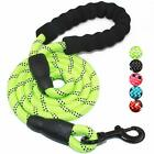 5 FT Strong Dog Leash Padded Handle Reflective Threads Walking Nylon Lead Rope