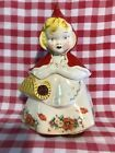 VTG LITTLE RED RIDING HOOD COOKIE JAR WITH APRON HULL WARE 967