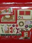 CHRISTMAS SCRAPBOOKING KIT WITH STICKERS PAPER SHEETS DIE CUT SHAPES NEW