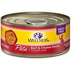 WELLNESS PET PRODUCTS CATCANBEEF  CHICKEN 55 OZ