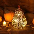 Romingo Mercury Glass Pumpkin Lantern Light With Timer For Halloween And Home