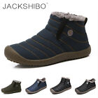 Womens Winter Snow Boots Ankle Shoes Fur Lined Plush Warm Slip on Casual Outdoor