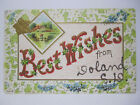 BEST WISHES FROM DOLAND SOUTH DAKOTA GREETINGS POSTCARD EMBOSSED SD 1909