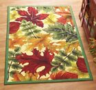 Fall Harvest Leaf Autumn Leaves Area Rug Entry Door Mat Thanksgiving Home Decor