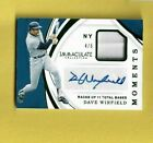 2019 IMMACULATE DAVE WINFIELD RELIC JERSEY AUTO MOMENTS CARD #4 5
