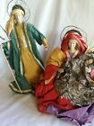 Christmas Nativity Holy Family Clothe Fabric Mache Figures 18