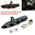 38 51mm Exhaust Muffler Pipe Three outlet Tail Pipe For Motorcycle Scooter ATV