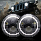 DOT LED Diamond Projector 7Inch Round Headlights For JEEP 2007 2017 JK TJ LJ CJ