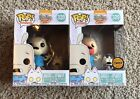 FUNKO POP ROCKO'S MODERN LIFE SERIES ROCKO WITH SPUNKY CHASE & COMMON LOT 2