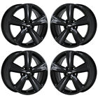 17 CHEVROLET CRUZE GLOSS BLACK WHEELS RIMS FACTORY OEM SET 2010 2019 5522