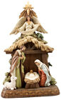 Christmas Nativity Holy Family and Figures Set Resin New 12 Inch