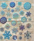 Foil Snowflakes Holiday Sticker Papercraft Planner Supply Envelope Seal Xmas