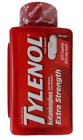 325 Caplets TYLENOL Extra Strength 500 Mg ACETAMINOPHEN Pain Reliever Fever Red
