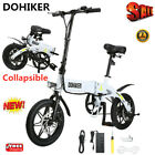 Folding Electric Bike Collapsible Moped Motor Bicycle USB w LED Headlight 3 Mode