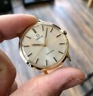 Omega vintage Gold Solid Gold 14K 585 Geneve Mechanical Cal 601 17 Jewels + Box