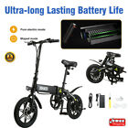 DOHIKER 14 Electric Folding e Bike Moped Collapsible Bicycle USB LED Headlight