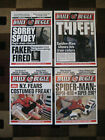 Spiderman Daily Bugle 11 x 15 Front Page Prints  Set of Four
