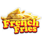 French Fries Decal Concession Stand Food Truck Sticker