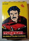 1983 FULL BOX MAGNUM P.I.TELEVISION TRADING CARDS 36 UO WAX PACKS INSIDE DONRUSS
