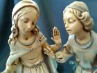 VINTAGE FONTANINI DEPOSE ITALY 6PCNATIVITY VILLAGE FIGURINES