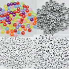 100x Alphabet Letter Beads Acrylic DIY Crafts 7mm Pastel Multicolored ABC Cube