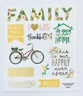 2 Sheets Floral Family Faith Inspirational Stickers Papercraft Journal Planner