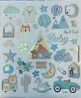 Baby Boy Shower Planner Silver Foil Stickers Bujo Invitations Envelope Seals