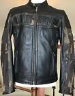 Harley Davidson Mens Size M Camo  Black Leather Jacket in Great Condition