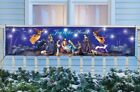 Lighted Christmas Nativity Holy Night Banner Winter Holiday Outdoor Yard Decor