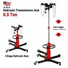 US A+ 1100 lbs Transmission Jack 2 Stage Hydraulic 360 for Car Lift Auto Lifter