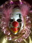 Small Vintage Clown Venetian Mask Decoration Only Great Condition