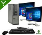 HP OR DELL PC Tower Intel Core i3 Computer 22 Display 512GB SSD 16GB RAM
