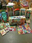 VINTAGE 1988 PEE-WEE'S PLAYHOUSE LOT OF 18 INC. DOLLS, PRODUCTS AND FIGURES NOS