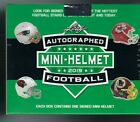 2019 Leaf Autographed Football Mini Helmet Factory Sealed Box