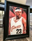 STUNNING Lebron James Signed Rookie Jersey Numbers Canvas Painting UDA 23!