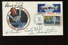 STS 8 ASTRONAUT 4 CREW MEMBER SIGNED COVER TRULY BRANDENSTEIN THORNTON BLUFORD